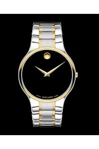 Đồng hồ Movado Watch, Men's Serio Two Tone Stainless Steel Bracelet 38mm 0606388