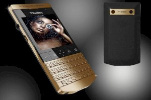 Goldstriker BlackBerry Porsche Design P'9981 24ct Gold Edition