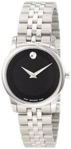 Movado Women's 0606505 Museum Stainless Steel Black Museum Dial Bracelet Watch