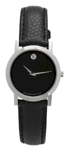 Movado Women's 606087 Museum Black Leather Strap Watch