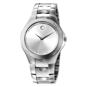 Movado Men's 606379 Luno Sport Stainless-Steel Silver Round Dial Bracelet Watch
