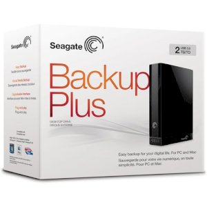 Seagate Backup Plus 2TB USB 3.0 Black Desktop Hard Drive STCA2000100