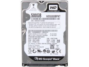 Western Digital 500GB - 7200rpm - 16MB Cache - SATA (WD5000BPKT)