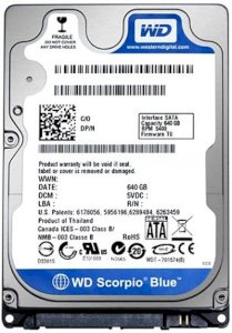 Western Digital 250GB - 5400rpm - 8MB Cache - SATA 3