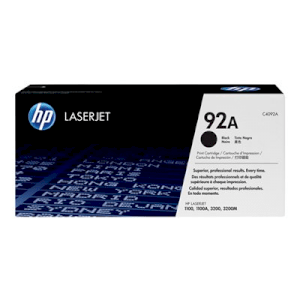 HP 92A Black Original LaserJet Toner Cartridge (C4092A)