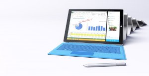 Microsoft Surface Pro 3 (Intel Core i5-4300U 1.9GHz, 8GB RAM, 256GB SSD, VGA Intel HD Graphics 4400, 12 inch, Windows 8.1 Pro)