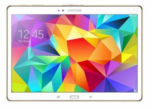 Samsung Galaxy Tab S 10.5 (SM - T805) (Quad-Core 1.9 GHz Cortex-A15 & Quad-Core 1.3 GHz Cortex-A7, 3GB RAM, 32GB Flash Driver, 10.5 inch, Android OS v4.4.2) WiFi Model Dazzling White