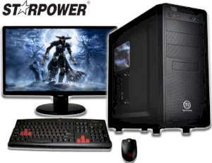 Starpower Warrior V1 (Intel Core i3-4150 3.5GHz, RAM 4GB, HDD 500GB, VGA Galaxy GT 730, PC DOS)