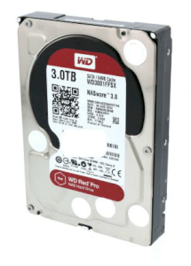 Western Digital Red Pro 3TB - 7200RPM - 64MB Cache - SATA 6.0 Gb/s (WD3001FFSX)