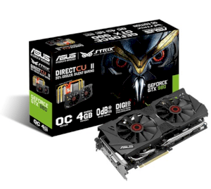 Asus STRIX-GTX980-DC2OC-4GD5 (NVIDIA GeForce GTX 980, 4GB GDDR5, 256 bit, PCI Express 3.0)