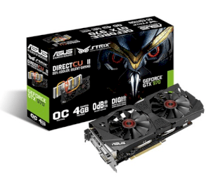 Asus STRIX-GTX970-DC2OC-4GD5 (NVIDIA GeForce GTX 970, 4GB GDDR5, 256 bit, PCI Express 3.0)