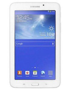 Samsung Galaxy Tab 3V (SM-T116NU) (Quad-core 1.3 GHz, 1GB RAM, 8GB SSD, VGA Mali-400MP, 7 inch, Androi OS v4.4) WiFi 3G Model White