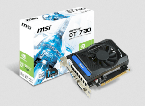 MSI N730K-2GD3/OC (Nvidia GeForce GT 730, 2048MB DDR3, 64 bit,  PCI Express x16 2.0)