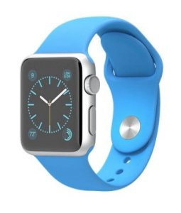 Đồng hồ thông minh Apple Watch Sport 38mm Silver Aluminum Case with Blue Sport Band