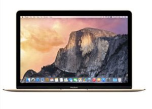Apple The New Macbook (MK4M2SA/A) (Early 2015) (Intel Core M-5Y31 1.1GHz, 8GB RAM, 256GB HDD, VGA Intel HD Graphics 5300, 12 inch, Mac OSX 10.6 Leopard) - Gold