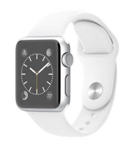 Đồng hồ thông minh Apple Watch Sport 38mm Silver Aluminum Case with White Sport Band
