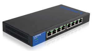 Linksys LGS108P 8-Port Desktop Gigabit PoE Switch