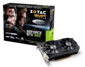 ZOTAC GeForce GTX 960 AMP! Edition (ZT-90307-10M) (Nvidia GeForce GTX 960, 2GB GDDR5, 128-bit, PCI Express 3.0)