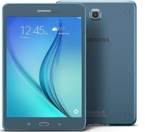 Samsung Galaxy Tab A 8.0 WiFi (SM-T350) (Quad-Core 1.2GHz, 1.5GB RAM, 16GB Flash Drive, 8.0 inch, Android OS v5.0) - Smoky Blue