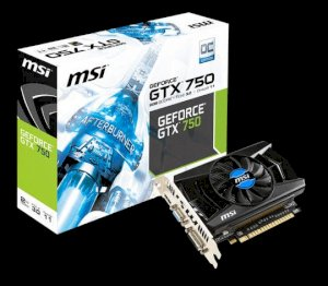 MSI N750-2GD5/OC (NVIDIA GeForce GTX 750, 2048MB GDDR5, 128 bits, PCI Express x16 3.0)