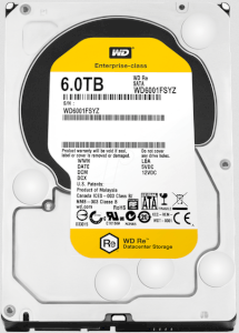 Western Digital Re WD6001FSYZ 6TB - 7200 RPM - 128MB Cache - SATA 6.0Gb/s