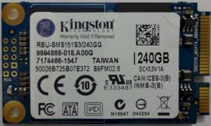 "SSD mSata Kingston 240G 1.8"" (RBU-SMS151S3/240GG)"