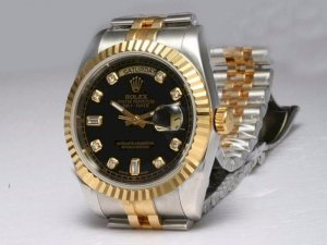 Rolex Day Date Automatic Full Gold Two Tone Watch With Full Gold Dial S250