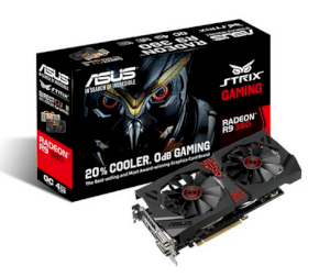 ASUS STRIX-R9380-DC2OC-4GD5-GAMING (AMD Radeon R9 380, 4GB GDDR5, 256-bit, PCI Express 3.0)