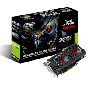 ASUS STRIX-GTX950-DC2OC-2GD5-GAMING (NVIDIA GeForce GTX 950, 2GB GDDR5, 128-bit, PCI Express 3.0)