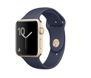 Đồng hồ thông minh Apple Watch Series 1 Sport 38mm Gold Aluminum Case with Midnight Blue Sport Band