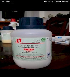 Sodium sulfate anhydrous Na2SO4 500g/ Chai