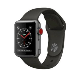 Đồng hồ thông minh Apple Watch Series 3 38mm Space Gray Aluminum Case with Gray Sport Band