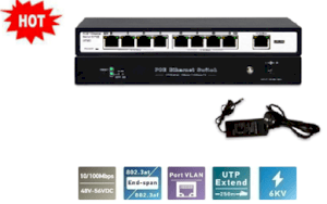 Switch PoE 8 cổng Hikvision SH-1008P-E
