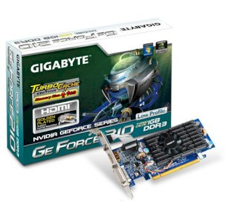 GIGABYTE GV-N210TC-1GI (NVIDIA GeForce 210, 1GB...