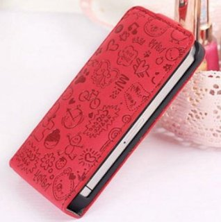 Cute PU Leather Case for iPhone 4 / 4s