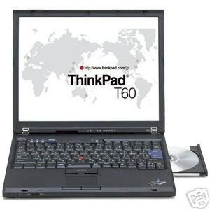 IBM ThinkPad T60 (1952-BW2) (Intel Core Duo T2400 1.83GHz, 1GB RAM, 60GB HDD, VGA Intel GMA 950, 14.1 inch, Windows XP Professional)