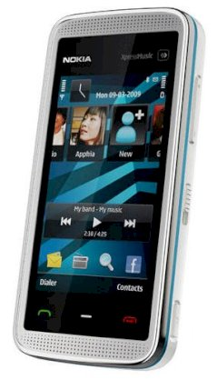 Nokia 5530 XpressMusic Blue on White