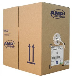 AMP Category 5e UTP Cable (200MHz) 4-Pair 24AWG Solid CM 305m White (6-219590-2)