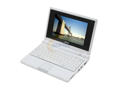 ASUS Eee PC4G-W036/W0002 Notebook Pure White (Intel Celeron M ULV 353 900MHz, 512MB RAM, 4GB HDD, VGA Intel GMA 900, 7 inch, Linux)