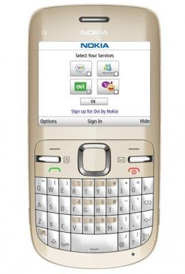Nokia C3-00 Golden White