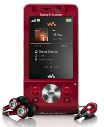 Sony Ericsson W910i Hearty Red