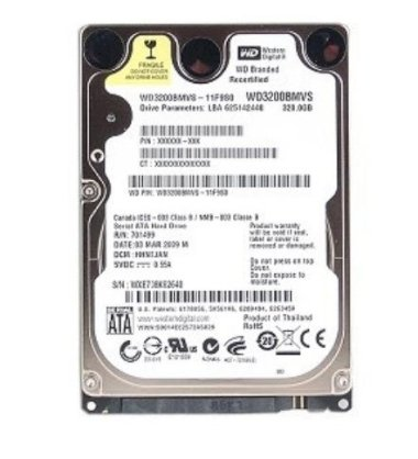 Western Digital 160GB - 5400rpm - 8MB Cache - SATA