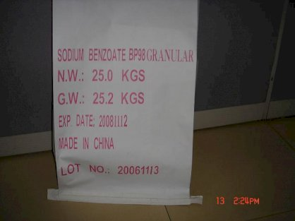 Sodium Benzoate Sung BP98 (25kg)