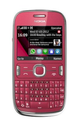 Nokia Asha 302 (N302) Plum Red