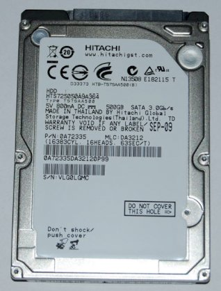 Hitachi 750GB - 5400rpm - 8MB Cache - SATA 3