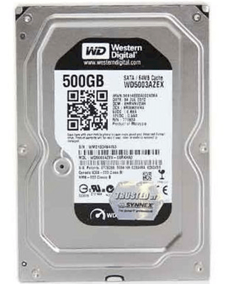 Western Digital (WD5003AZEX) Black 500GB - 7200rpm - 64MB cache - SATA 2