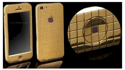 Goldgenie iPhone 5 Gold Superstar Ice