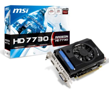 MSI R7730-1GD5V1 (ATI Radeon HD 7730, GDDR5 1GB, 128 bits, PCI Express x16 3.0)