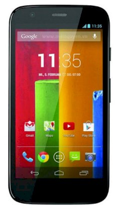 Motorola Moto G CDMA 16GB Black front Yellow back