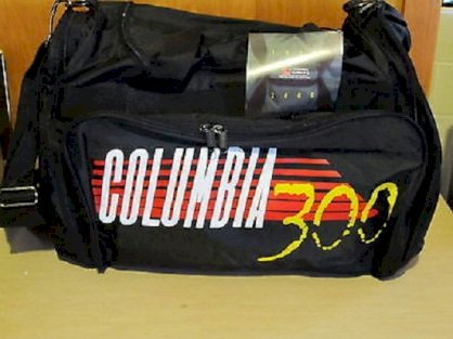 Columbia 300 Large Pro Two Ball Nylon Bowling Ball Bag Black